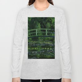 The Water Lily Pond Deep & Dark Long Sleeve T-shirt