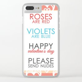 Funny Valentines Day for Adults Clear iPhone Case