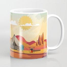 Wild Camping Autumn Landscape Coffee Mug