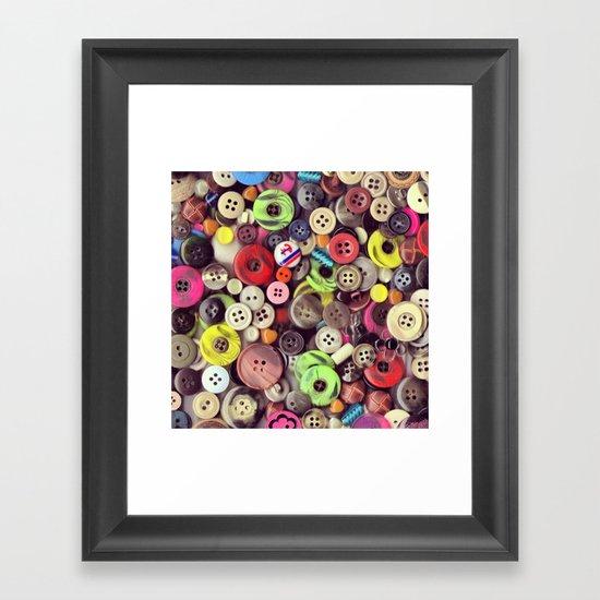 Button Jar Autopsy Framed Art Print