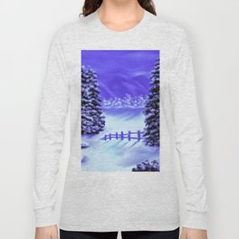 Moon Over The Mountain Long Sleeve T-shirt