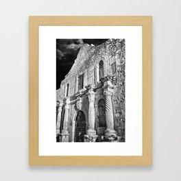 Black & White photograph of the Alamo, in San Antonio, TX Framed Art Print