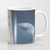egyptian Mugs featuring Egyptian Moon by Vin Zzep