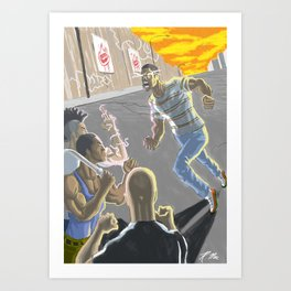 Going at Haters Art Print