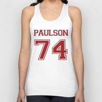 sarah paulson Tank Tops featuring Sarah Paulson Varsity by NameGame