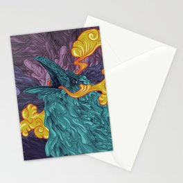 Water Crow Stationery Cards