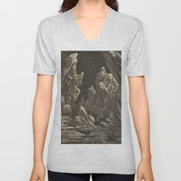 Camille Flammarion - Astronomie populaire  Black And White Magical Space Crystal Fantasy Landscape Unisex V-Neck