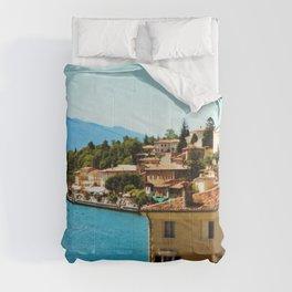 Limone Sul Garda Lake Garda Italy photo painting  Comforters