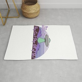 Storm Area 51 They Can't Stop Us All Alien UFO Retro Advert Rug