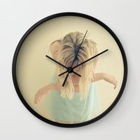 fly Wall Clocks featuring Fly by Cassia Beck