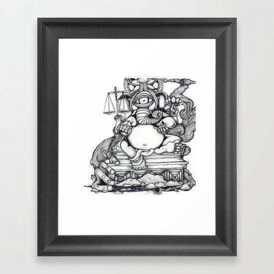 Abstract Ganesh Framed Art Print
