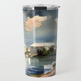 Salt Kettle Bermuda 1899 By WinslowHomer   Reproduction Travel Mug