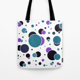 Fizzy Lifting Dots Lavender Tote Bag