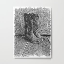 Boot Scootin' Metal Print