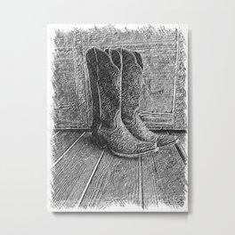 Boot Scootin' Metal Print