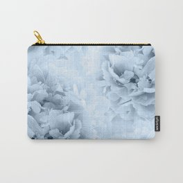 Light Blue Peonies Dream #1 #floral #decor #art #society6 Carry-All Pouch