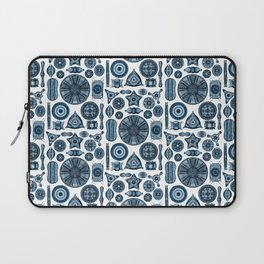 Ernst Haeckel Diatomea Diatoms in Navy Blue Laptop Sleeve