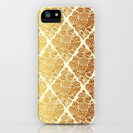 Gold florals iPhone Case