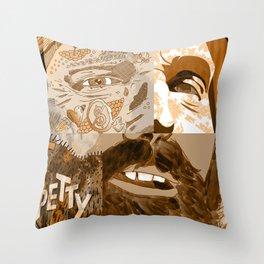 """Faces - Petty"" by Blackard, Boehm, Fiche, Livengood, & McCarthy - Monochrome Throw Pillow"
