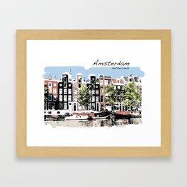 Amsterdam Netherlands Dutch Buildings Framed Art Print