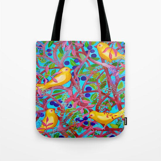 Birds & Berries Tote Bag