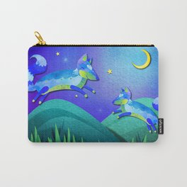 Starlit Foxes Carry-All Pouch