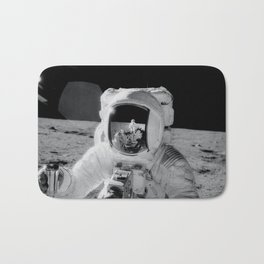 Apollo 12 - Face Of An Astronaut Moon Selfie Bath Mat
