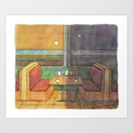 Diner Days, Diner Nights Art Print