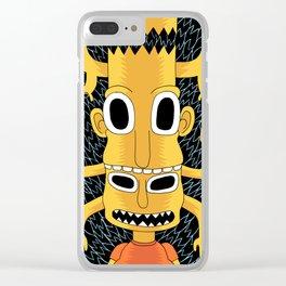 Cartoon Totem Clear iPhone Case