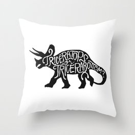 Triceratops or Tricerabottom? Throw Pillow