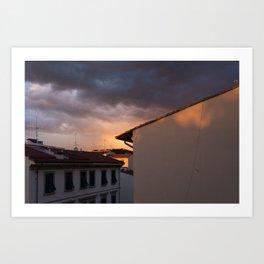 Mystery sky over Florence Art Print