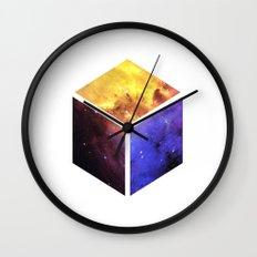 Nebula Cube - White Wall Clock