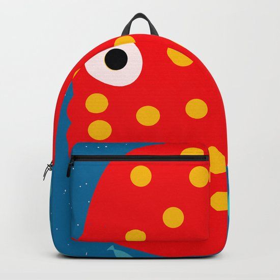 Red Fish illustration for kids Backpack