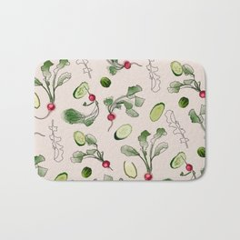 Radishes and cucumbers Bath Mat