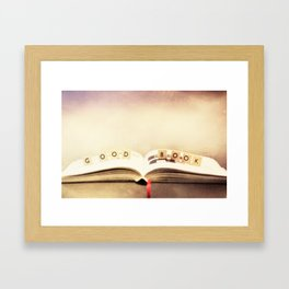 Good book Framed Art Print