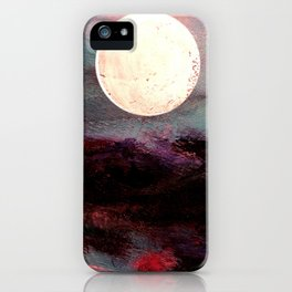 Tonight, I Am Dreaming That We Can Sleep Under The Same Moon. iPhone Case
