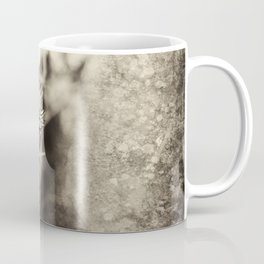 Beautiful thistle growing wild and sepia texture Coffee Mug