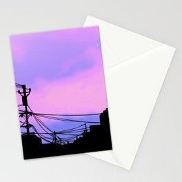 Aesthetic sunset Japanese Lo Fi  Stationery Cards