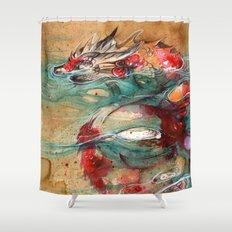 DRAGON KOI Shower Curtain
