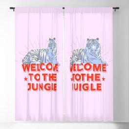 welcome to the jungle - retro tiger Blackout Curtain