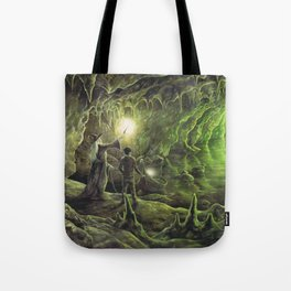Harry and Dumbledore in the Horcrux Cave Tote Bag