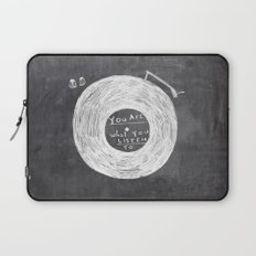 you are what you listen to Laptop Sleeve