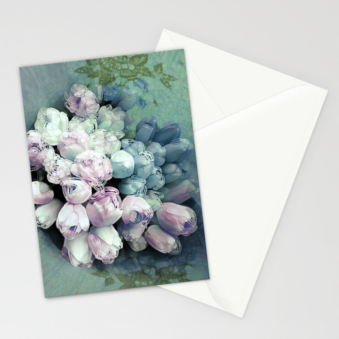 Tulips Antique Stationery Cards