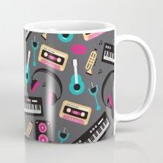 Jazz music instruments and sounds pattern Mug