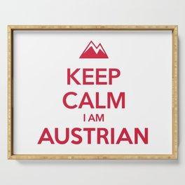 KEEP CALM I AM AUSTRIAN Serving Tray