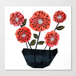 Poppy Flowers by Veronique de Jong Canvas Print