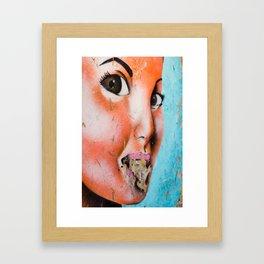 Brown Eyed Street Girl Framed Art Print