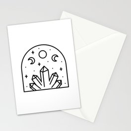 Triluna and Crystals Stationery Cards