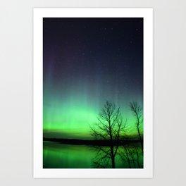 A Green Glow Art Print