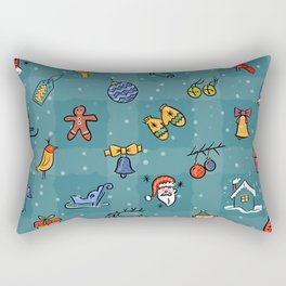 Whimsy Christmas Rectangular Pillow